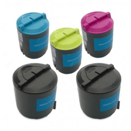 5x Toner SAMSUNG CLP-P300C (K300A, Y300A, M300A, C300A, P300B) - C/M/Y/2x K komp. CLP-300, CLX-2160, CLX-3130, CLX-3160