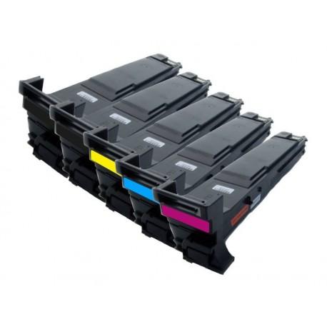Sada 5x toner Konica Minolta Magicolor A0DKJ51, A0DK151, A0DK251, A0DK351, A0DK451 - C/M/Y/2xK kompatibilní - 4650, 4690