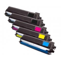 5x Toner Brother TN-230 (TN-230BK, TN-230C, TN-230M, TN-230Y) - C/M/Y/2xK kompatibilní - HL-3040, MFC-9120, DCP-9010