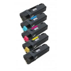 5x Toner Xerox 106R01334, 106R01331, 106R01332, 106R01333  - C/M/Y/2xK kompatibilní - Xerox Phaser 6125, 6125N, 6125V, 6125WE
