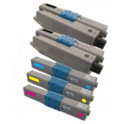 5x Toner Oki C301 44973536, 44973535, 44973534, 44973533  - C/M/Y/2xK kompatibilní - Oki C301DN, C321, C321DN