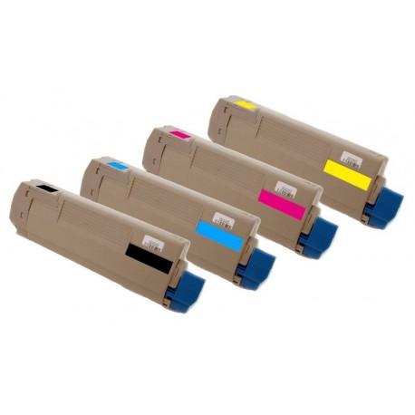 4x Toner Oki C5850 43865724, 43865723, 43865722, 43865721  - C/M/Y/K kompatibilní - Oki C5850N, C5850DN, C5950, C5950N, MC560N