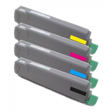 4x Toner Oki C8600 43698501, 43487712, 43487711, 43487710, 43487709  - C/M/Y/K kompatibilní - Oki C8600N, C8800, C8800N