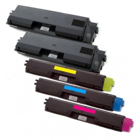5x Toner Kyocera Mita TK-580 (Tk-580BK, TK-580C, TK-580M, TK-580Y)  - C/M/Y/2xK kompatibilní - FS-C5150, FS-C5150DN