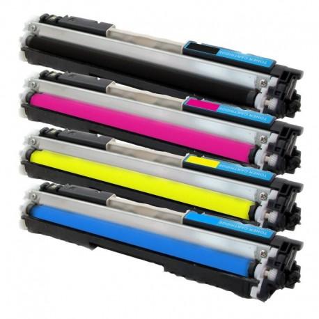 4x Toner HP CE310A, CE311A, CE312A, CE313A LaserJet CP1025 / Pro 100 Color MFP M175A - C/M/Y/K kompatibilní