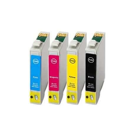 Sada 4ks Epson T0445 (T0441 T0442 T0443 T0444) Epson Stylus - komp. inkoustové náplně (cartridge) - CX6400, Epson C86, C66