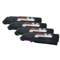 4x Toner pro Dell C2660, C2665DWN - C/M/Y/K 67H2T, TW3NN, V4TG6, 2K1VC vysokokapacitní kompatibilní
