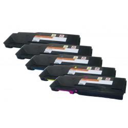 5x Toner pro Dell C2660, C2665DWN - C/M/Y/2x K 67H2T, TW3NN, V4TG6, 2K1VC vysokokapacitní kompatibilní