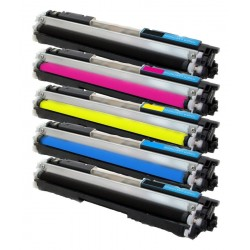 Sada 5x Toner HP CF350A, CF351A, CF352A, CF353A (CF350, CF353, 130A) Color LaseJet Pro MFP M176n, M177fw - C/M/Y/K kompatibilní