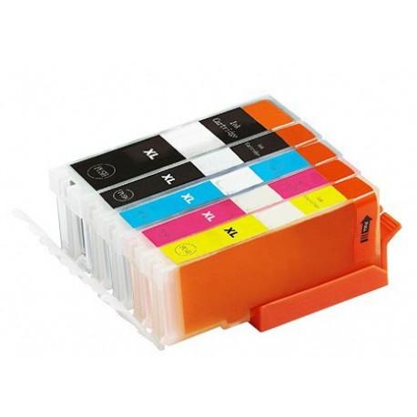 Sada 5ks Canon PGI-570 / CLI-571 XL (PGI-570Bk, CLI-571C, CLI-571M, CLI-571Y, CLI-571Bk) - kompat. inkoustové náplně (cartridge)