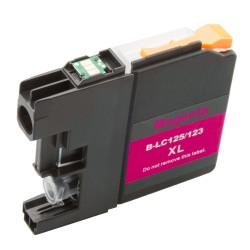 Cartridge Brother LC-125M (LC-125, LC-127) červená (magenta) - kompatibilní inkoustová náplň (cartridge)