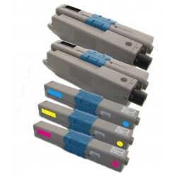 5x Toner Oki C510 44469804, 44469724, 44469723, 44469722  - C/M/Y/2xK kompatibilní - Oki C510, C510DN, C511DN, MC561, MC562DN