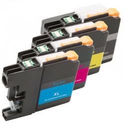 Sada 4ks Brother LC-3219XLBk, LC-3219XLC,LC-3219XLM, LC-3219XLY,LC3217,LC3219XLVALDR)-kompatibilní inkoustové náplně (cartridge)