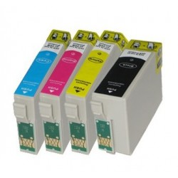 Sada T3476 34XL (T3471,T3472, T3473,T3474) kompatibilní inkoustové náplně (cartridge) pro Epson Workforce Pro WF-3720DWF,WF-3725