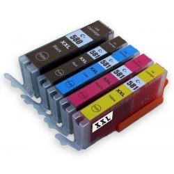 Sada 5ks Canon PGI-580, CLI-581 XXL (PGI-580Bk,CLI-581C, CLI-581M,CLI-581Y, CLI-581Bk)-kompatibilní inkoustové náplně -cartridge