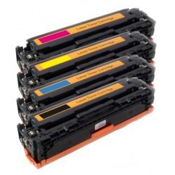 4x Toner HP CF540X, CF541X, CF542X, CF543X 203X Color LaserJet Pro MFP M254dw, M254nw, M280, M281, M254 kompatibilní
