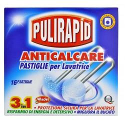 Pulirapid Anticalcare 16 tablet - Odvápňovací tablety do pračky - MADEL