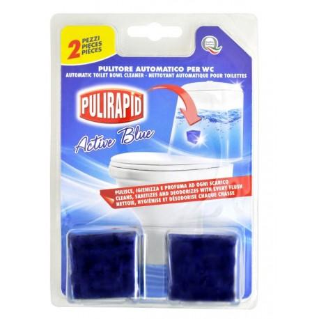Pulirapid WC Cubo Active Blue 2ks - Tablety do nádržky WC bez chlóru s vůní a čisticími schopnostmi - MADEL