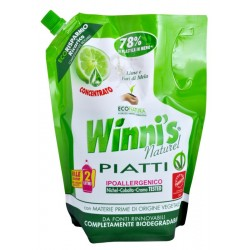 Winni's Piatti Lime Ecoricarica 1000ml - Hypoalergenní mycí prostředek na nádobí s vůní limetky - ecorefill balení -MADEL