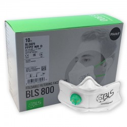 BLS FlickIt 829 FFP2 NR D  - Respirátor proti SARS-COV-2, Covid-19, koronavirus, coronavirus, prachům, kouřům, aerosolům